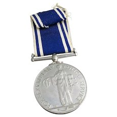 English 18950's Police Original George VI Long Service And Good Conduct Medal