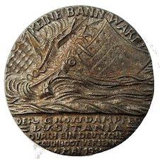 WW1 Lusitania Medal Antique 1915