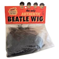 Original 1960s Novelty Beatles Wig- New Old Stock