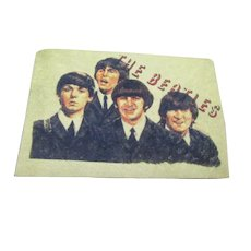 English Beatles Sew On Patch Memorabilia Vintage 1960's.