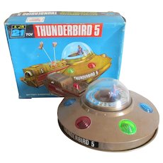 Boxed Vintage Thunderbird 5 Battery Operated Space Craft Toy c1965.