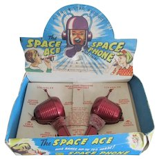 Boxed 1950s 'The Space Ace Space Phone' Toy.