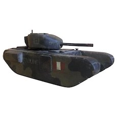 WW2 Canadian POW Trench Art Wooden Tank c1940s