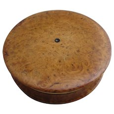Burr Walnut With Gold Plated Interior Box Compact Antique Victorian C1890.