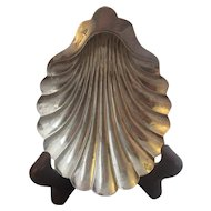 English Sterling Silver Clam Shell Dish Sheffield 1906 by Walker & HALL