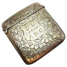 Antique Edwardian Silver Vesta Case.