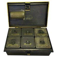 Tin Toleware Spice Box With original Grater Antique c.1830.