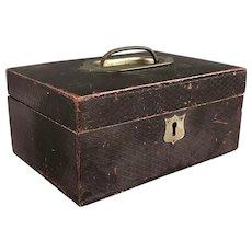 Leather Jewellery Box Vintage c1940