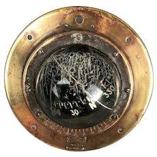 Sestrel 6204 Nautical Brass Ship Bulkhead Compass Victorian Antique c1900