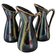 Trio of smaller West German Jugs Vintage 1960s.