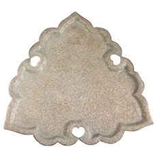 Indian Copper Leaf Shaped Tray Antique Victorian C1900.