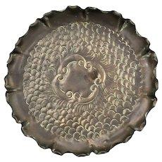 Arts & Crafts Hand Beaten Copper Tray Dish Antique c1900