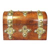 Walnut Burl Box Victorian c1870