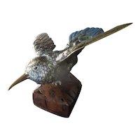 Cold Painted Hummingbird Austrian Victorian Antique c1880
