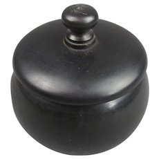 Carved Ebony Box Antique Victorian c1900