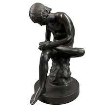 Cast Bronze Statue of Spinario The Thorn Boy Late 19th Century