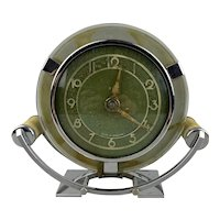 Round Clock Vintage Art Deco c1930