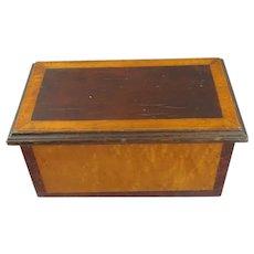 Burr Maple Box Antique Victorian c1890