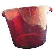 Ruby Glass Rinser Antique c1840