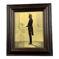 Regency Silhouette Of Gentleman, Georgian C1820