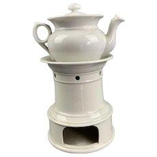 Sarreguemines Porcelain Portable Tea Warmer C 1882