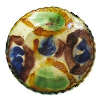 Studio Pottery Shallow Bowl Vintage c1960