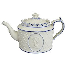 Castleford Pottery Type Teapot Antique Georgian c1810