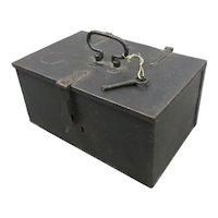 Small Iron Safe Box Antique c1850
