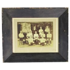 Original Framed Photograph of Football Team Edwardian c1902