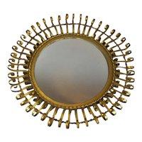 Bent Metal Starburst Mirror Vintage c1960
