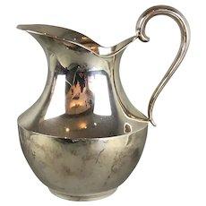 Italian Silver Plate Water or Summer Spritz Jug Alpaca AM Vintage