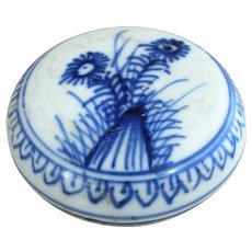 Chinese 18th Century Porcelain Powder Box -Ca Mau Cargo c1720