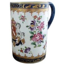19th Century Armorial Mug by Samson Antique