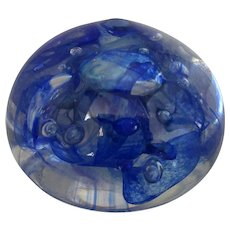 Glass Paperweight By Siddy Langley Vintage 1994