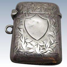 Sterling Silver Vesta Match Case Antique Chester 1905