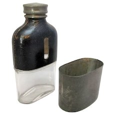 Antique Small Hip Flask & Cup by James Dixon Sheffield c1910.