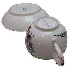 Meissen Cup & Saucer Marcaloni Period Antique c1770.