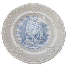 Small Antique Commemorative Great Exhibition 'Fidelity' Plate c1851.