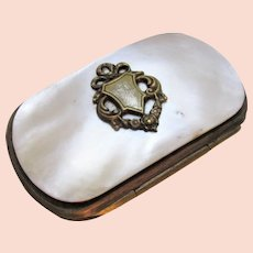 Tiny Antique Mother of Pearl Coin Purse c1910.