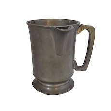 Antique Mid 19th Century Pewter Spouted Tankard belonging to Sir William Gomm.