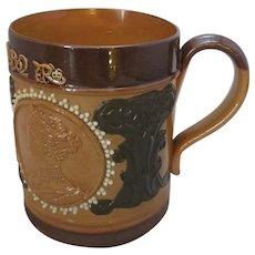 Royal Doulton Commemorative Mug Coronation King Edward VII c1902.
