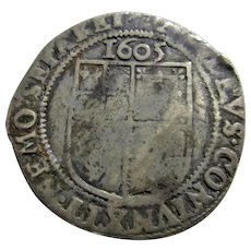 English Silver Sixpence James 1st Antique c.1605.