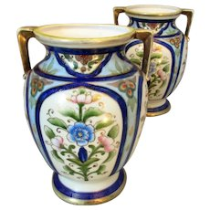 Vintage Pair of Japanese Noritake Vases c1920s.