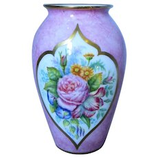 Small Hand Painted Vase by Worcester Artist Francis Clarke Vintage.
