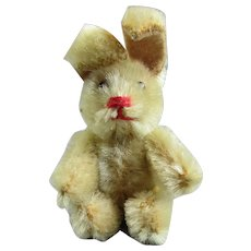 Tiny Little Articulated Toy Rabbit Vintage C1970.