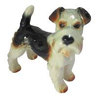 Wire Fox Terrier Dog Figure by Goebel Hummel Vintage c1950.