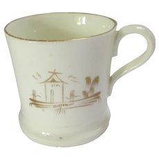 Miniature English Porcelain Cup Mug by New Hall Antique Georgian c1790.