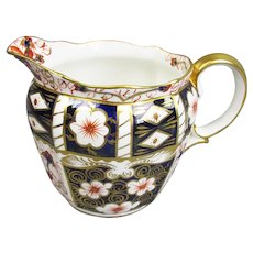 Royal Crown Derby Imari Pattern Cream Jug Porcelain Vintage
