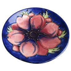 Moorcroft Anemone Pattern Pin Dish Vintage c1940