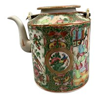 Chinese Teapot Famille Rose Cantonese C 1850